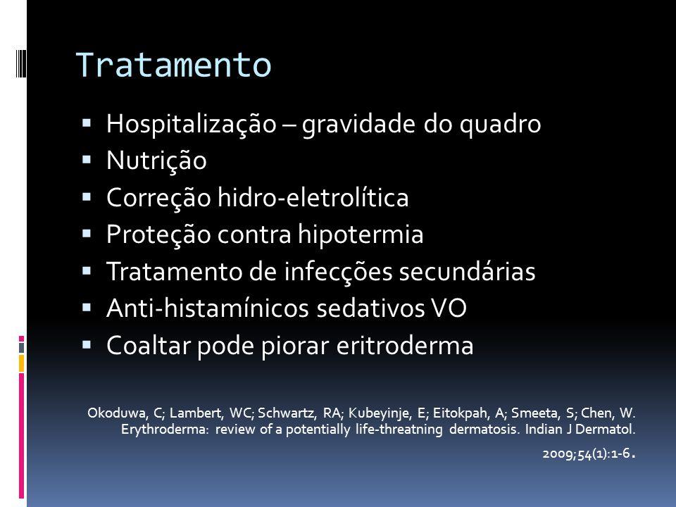 Tratamento Hospitalização – gravidade do quadro Nutrição