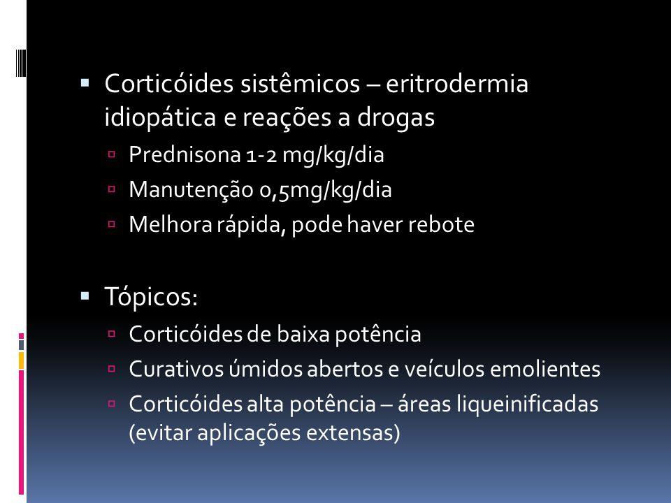 Corticóides sistêmicos – eritrodermia idiopática e reações a drogas