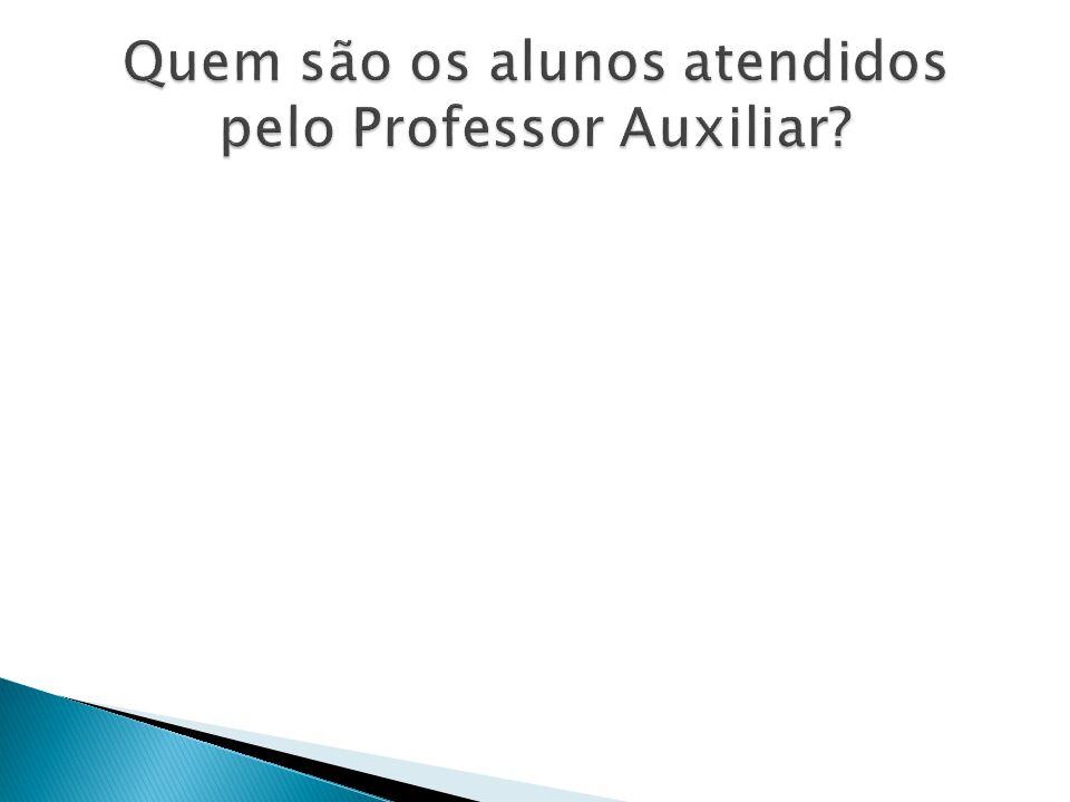 Quem são os alunos atendidos pelo Professor Auxiliar