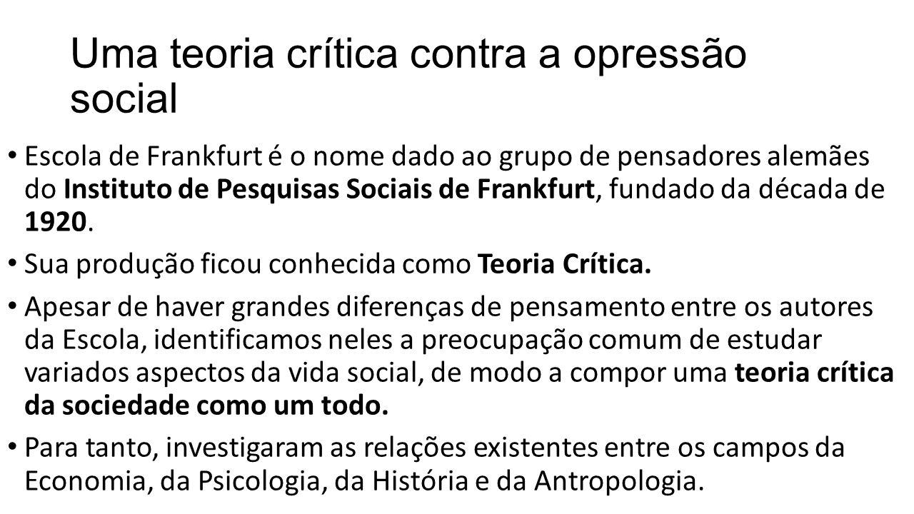 Uma teoria crítica contra a opressão social