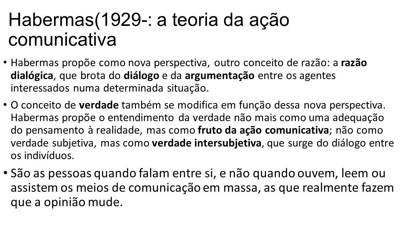 Habermas(1929-: a teoria da ação comunicativa