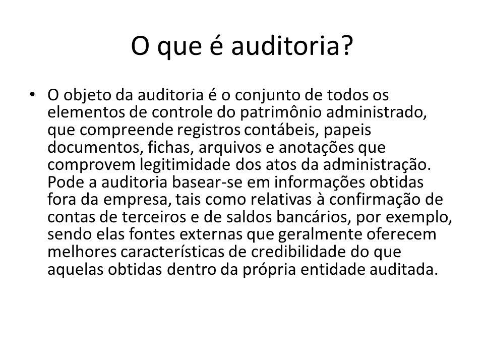 O que é auditoria