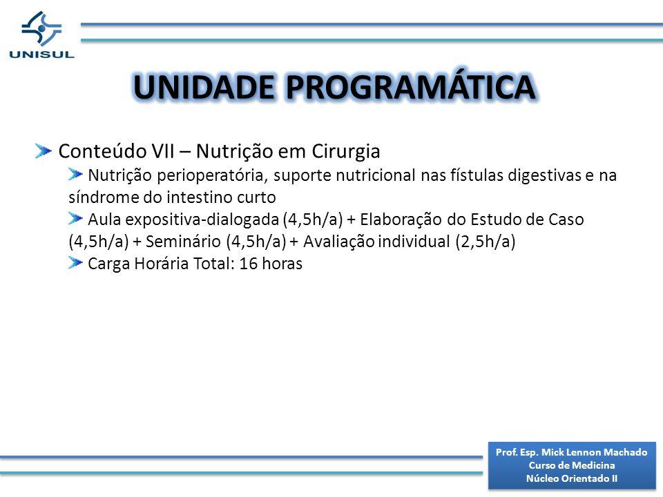 Prof. Esp. Mick Lennon Machado