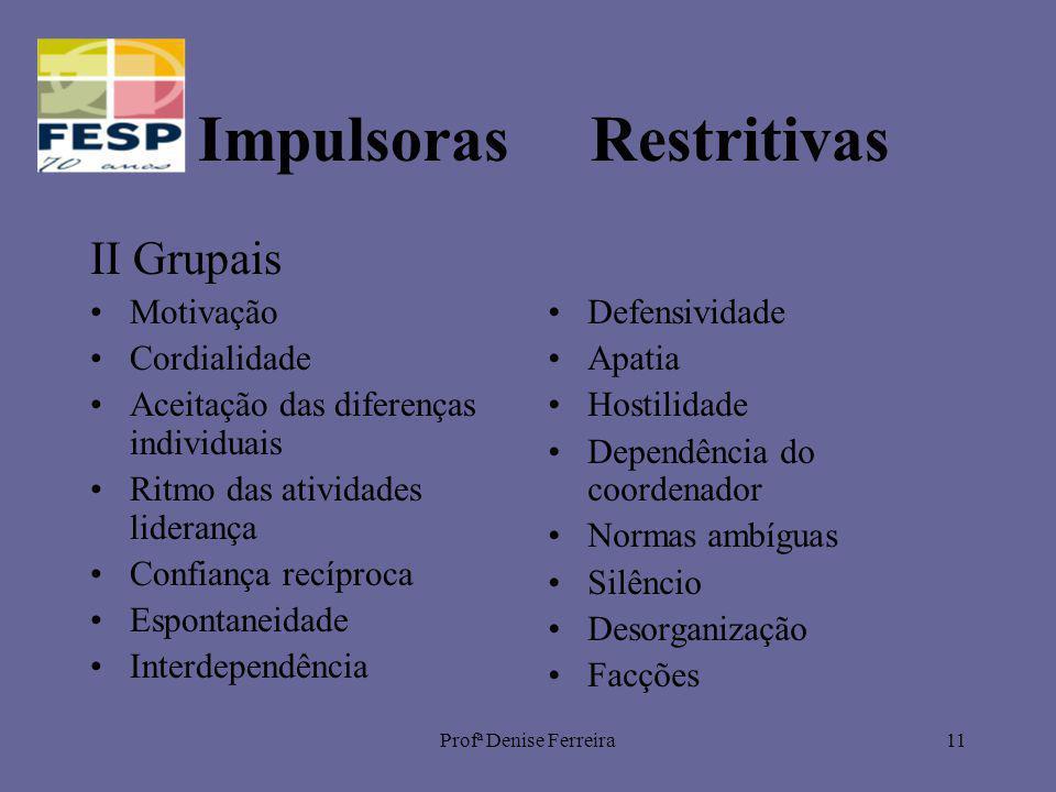 Impulsoras Restritivas