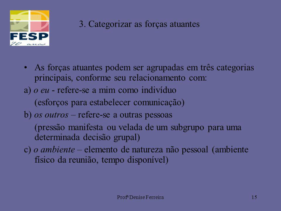 3. Categorizar as forças atuantes