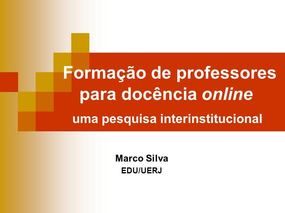 Formação de professores para docência online uma pesquisa interinstitucional