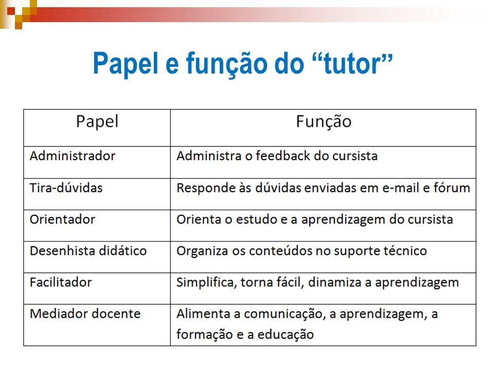 Papel e função do tutor