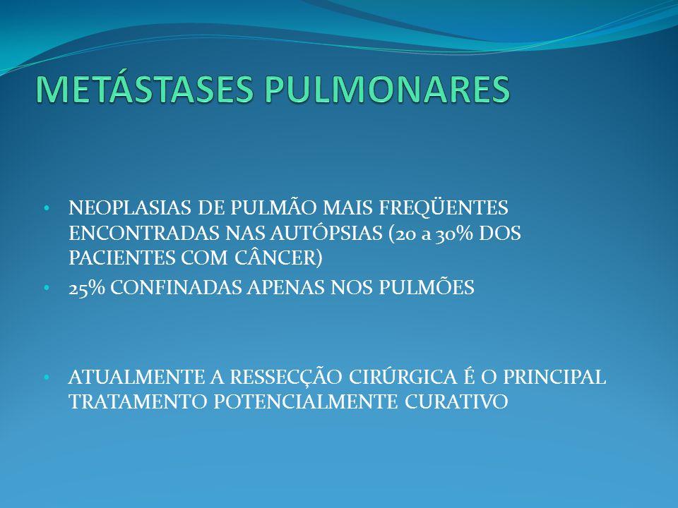 METÁSTASES PULMONARES