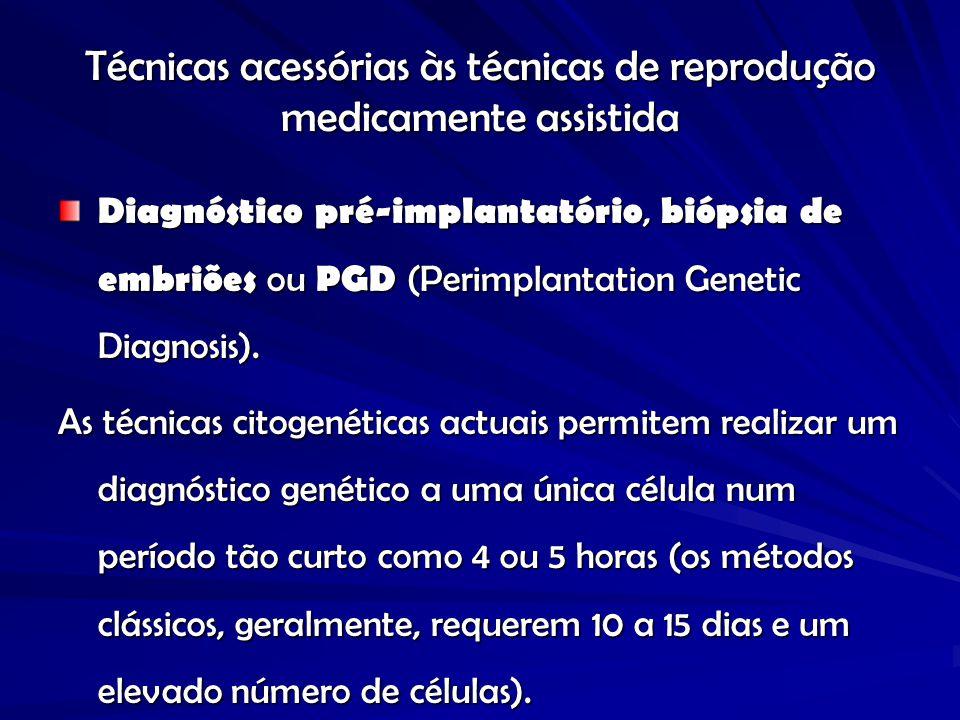 Técnicas acessórias às técnicas de reprodução medicamente assistida
