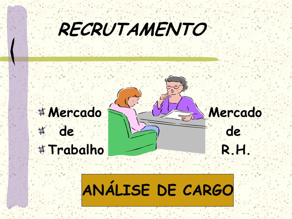 RECRUTAMENTO Mercado Mercado. de de. Trabalho R.H.