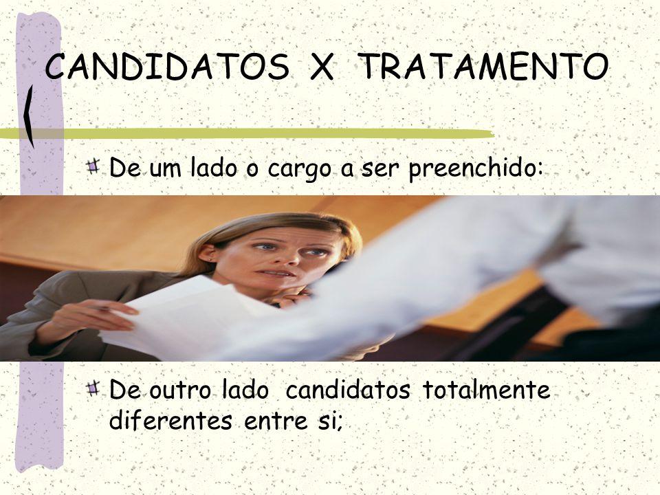 CANDIDATOS X TRATAMENTO