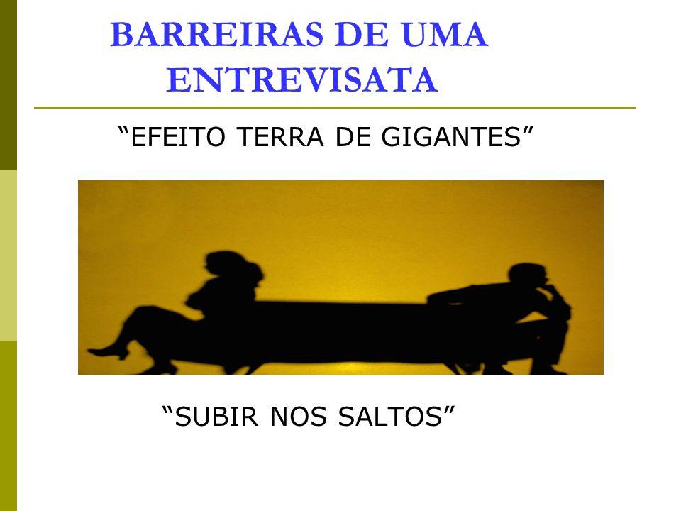 BARREIRAS DE UMA ENTREVISATA