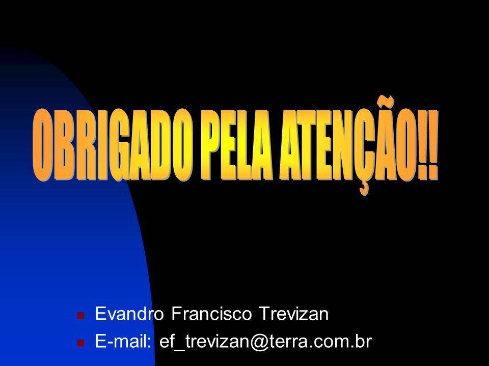 OBRIGADO PELA ATENÇÃO!! Evandro Francisco Trevizan