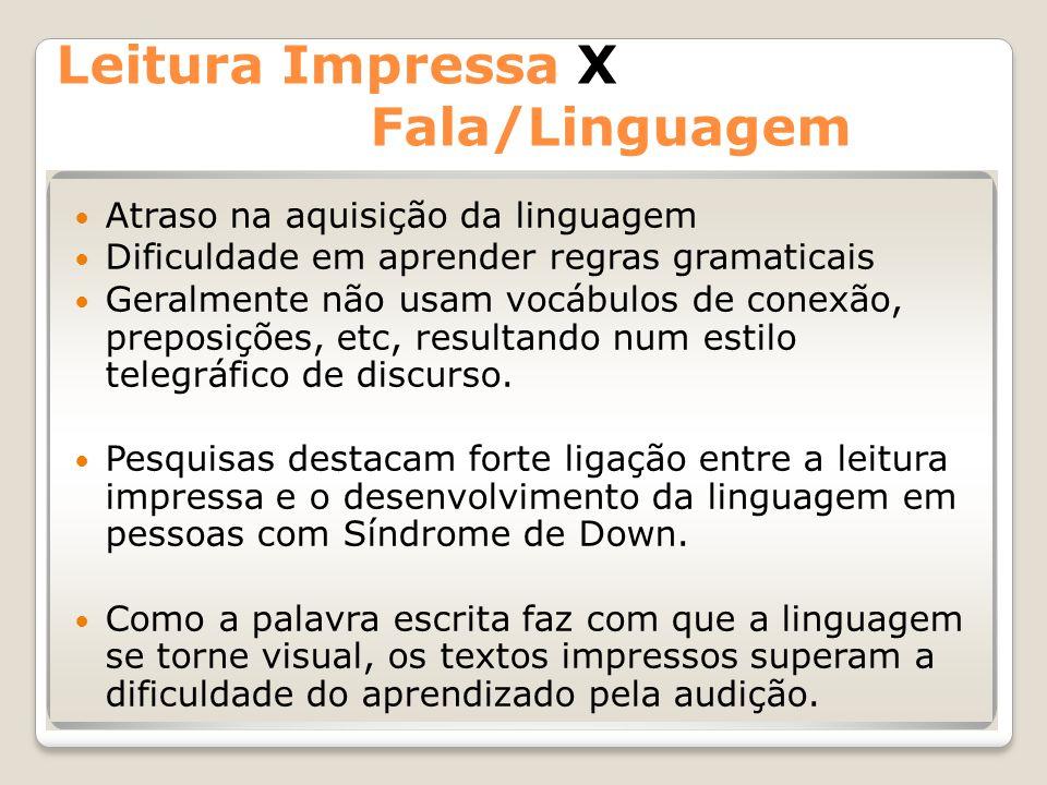 Leitura Impressa X Fala/Linguagem