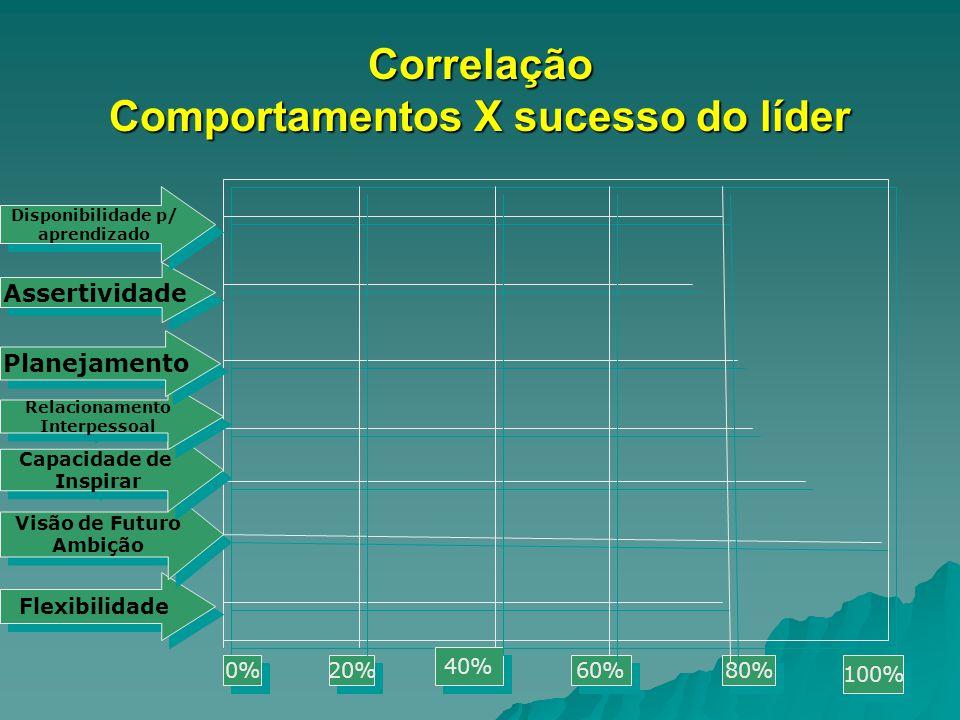 Correlação Comportamentos X sucesso do líder