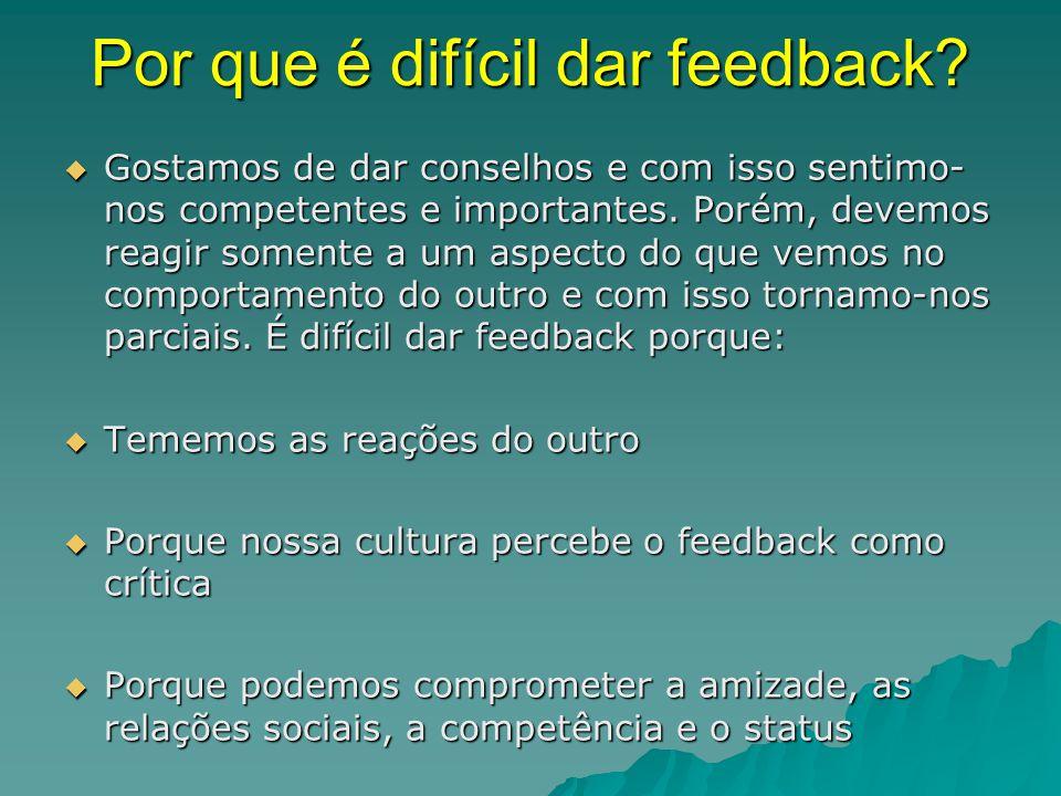 Por que é difícil dar feedback