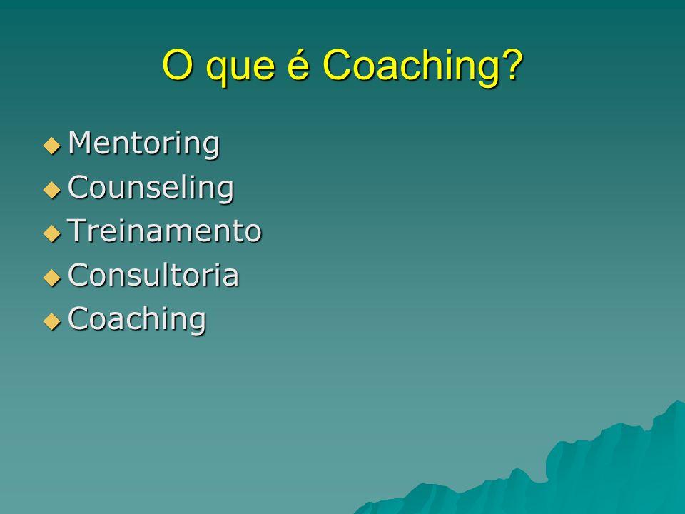 O que é Coaching Mentoring Counseling Treinamento Consultoria
