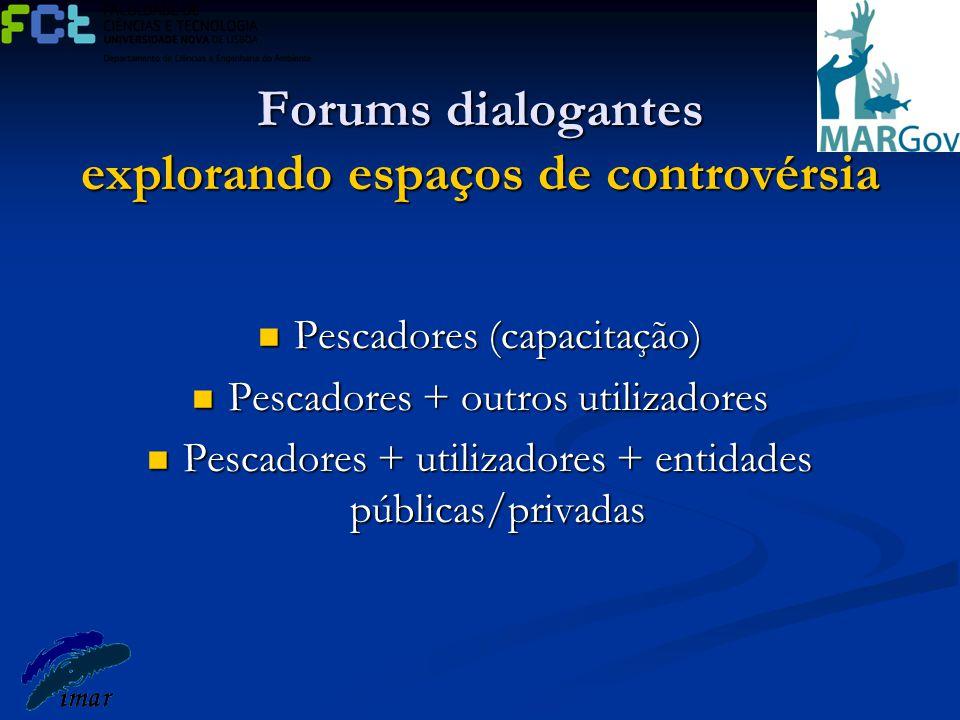 Forums dialogantes explorando espaços de controvérsia