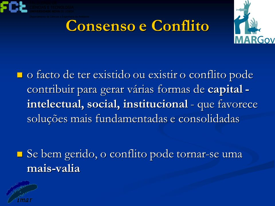 Consenso e Conflito