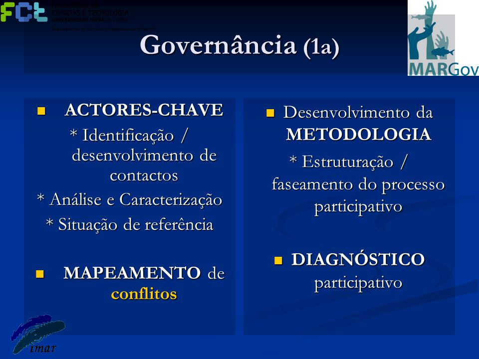 Governância (1a) ACTORES-CHAVE