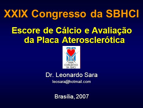 XXIX Congresso da SBHCI