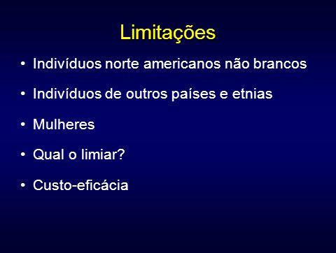 Limitações Indivíduos norte americanos não brancos