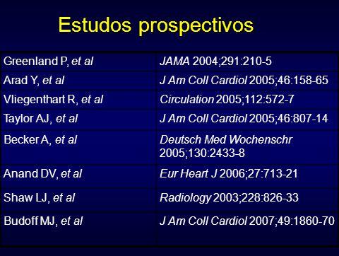 Estudos prospectivos Greenland P, et al JAMA 2004;291:210-5
