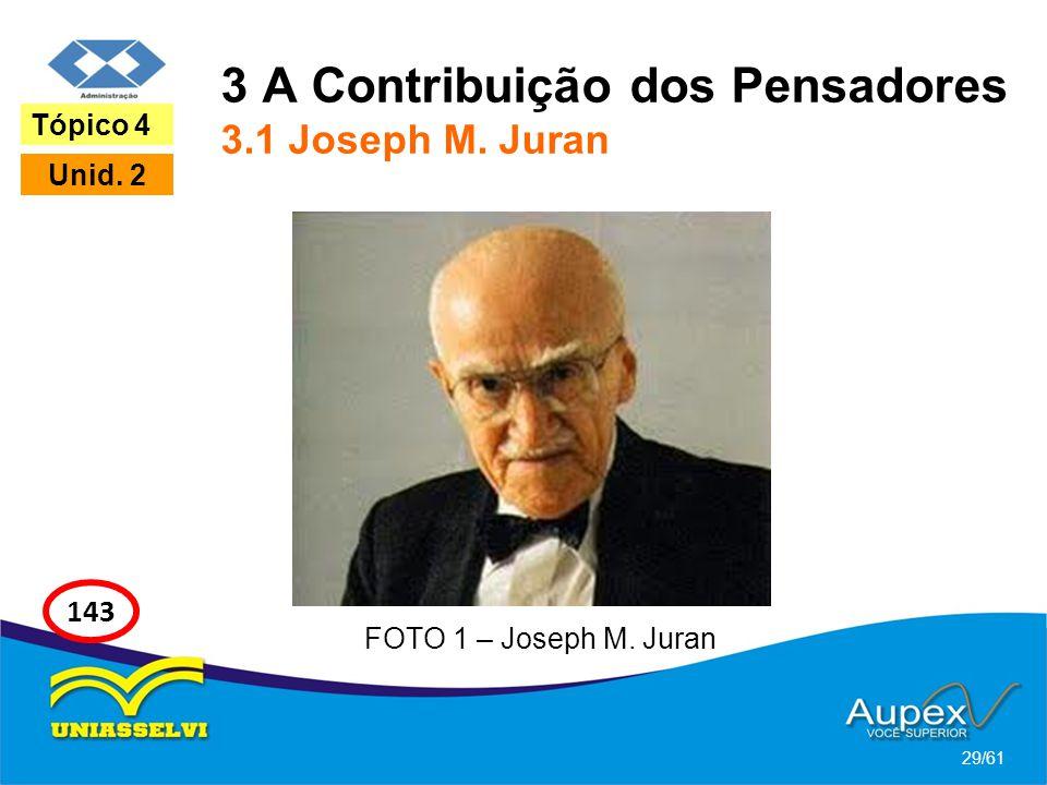 3 A Contribuição dos Pensadores 3.1 Joseph M. Juran