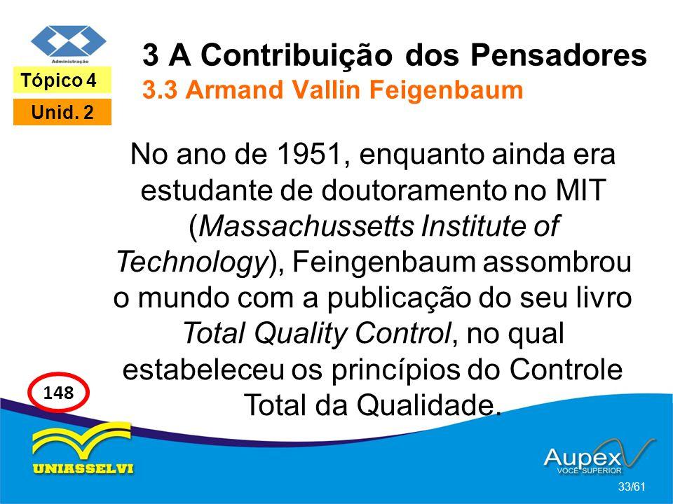 3 A Contribuição dos Pensadores 3.3 Armand Vallin Feigenbaum