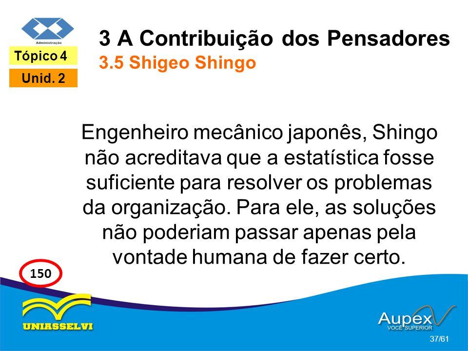 3 A Contribuição dos Pensadores 3.5 Shigeo Shingo