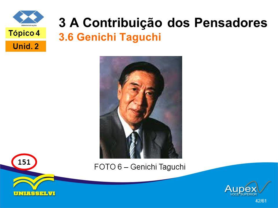 3 A Contribuição dos Pensadores 3.6 Genichi Taguchi