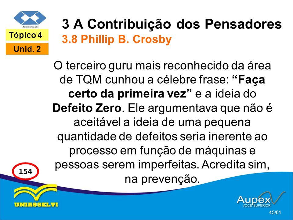 3 A Contribuição dos Pensadores 3.8 Phillip B. Crosby
