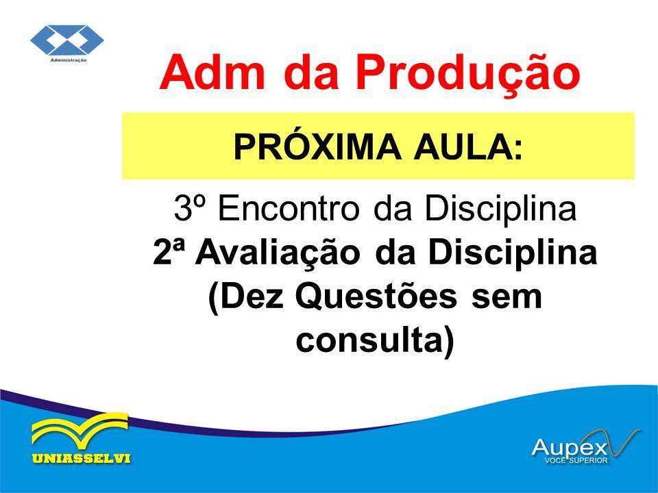 Adm da Produção PRÓXIMA AULA: