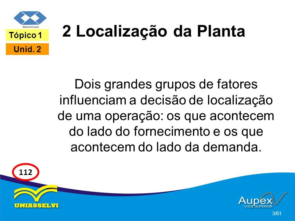 2 Localização da Planta Tópico 1. Unid. 2.