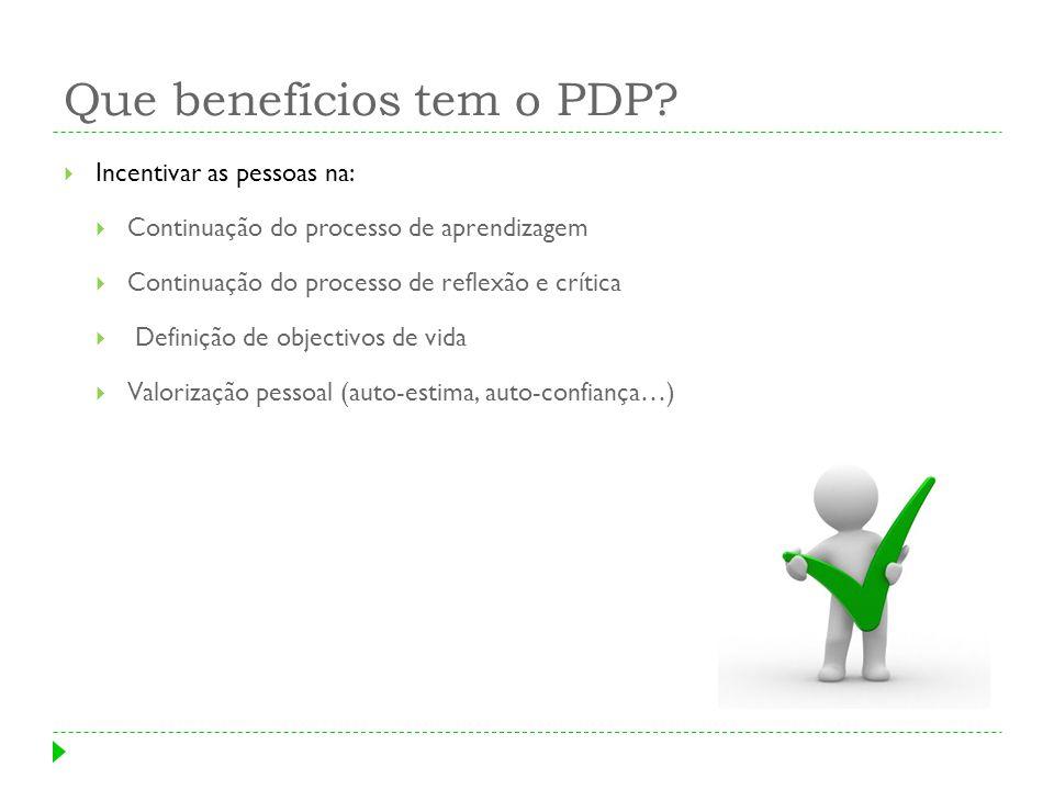 Que benefícios tem o PDP