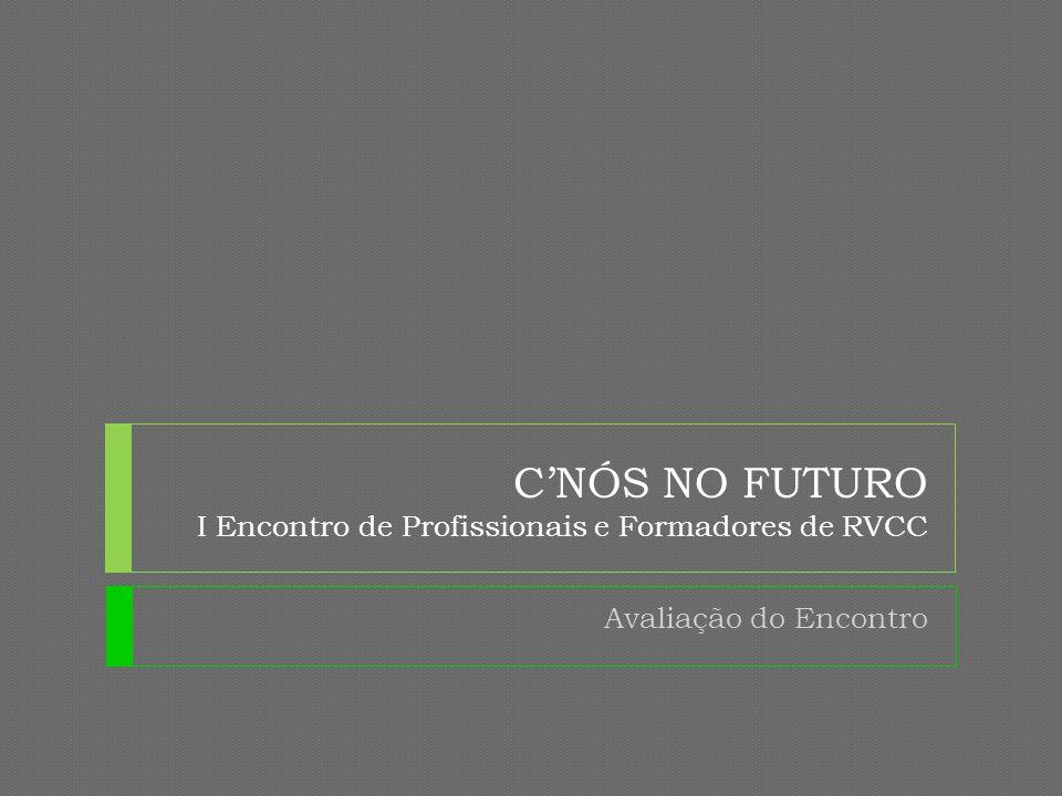 C'NÓS NO FUTURO I Encontro de Profissionais e Formadores de RVCC