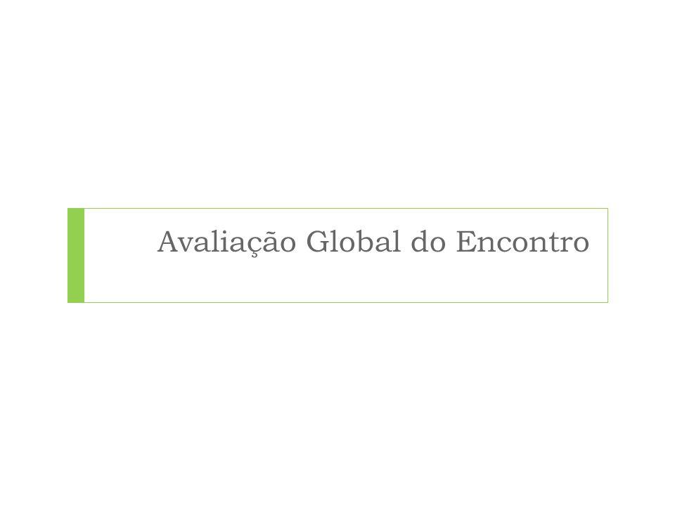 Avaliação Global do Encontro