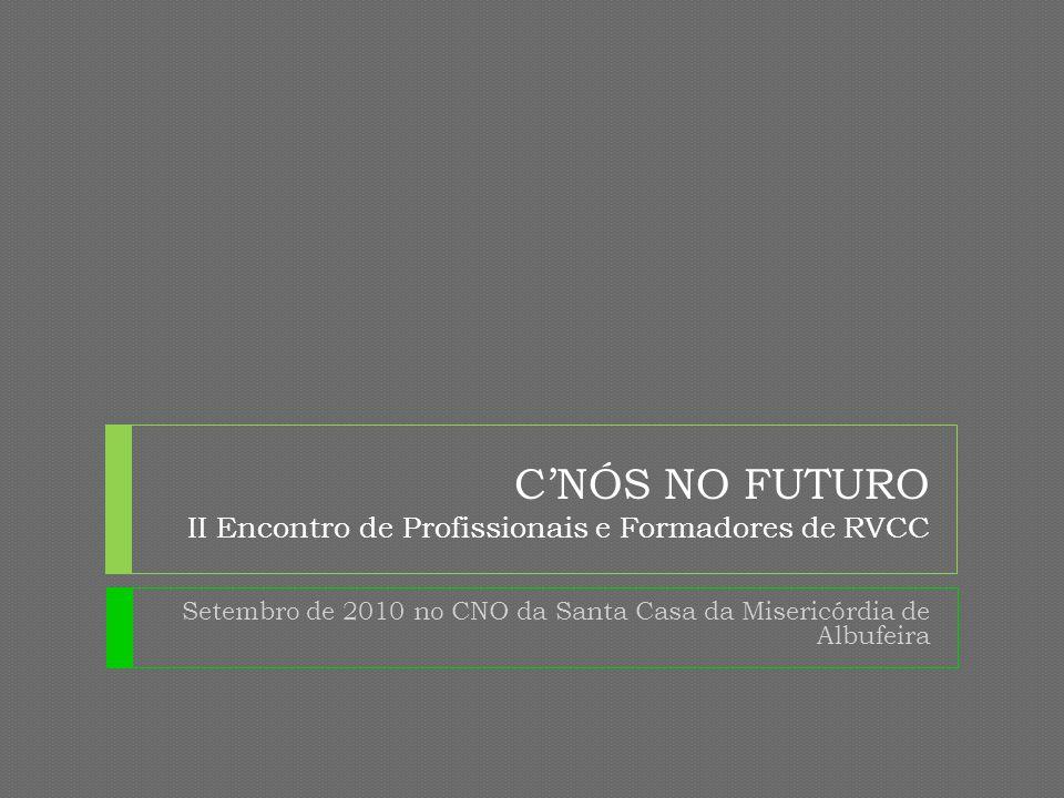 C'NÓS NO FUTURO II Encontro de Profissionais e Formadores de RVCC