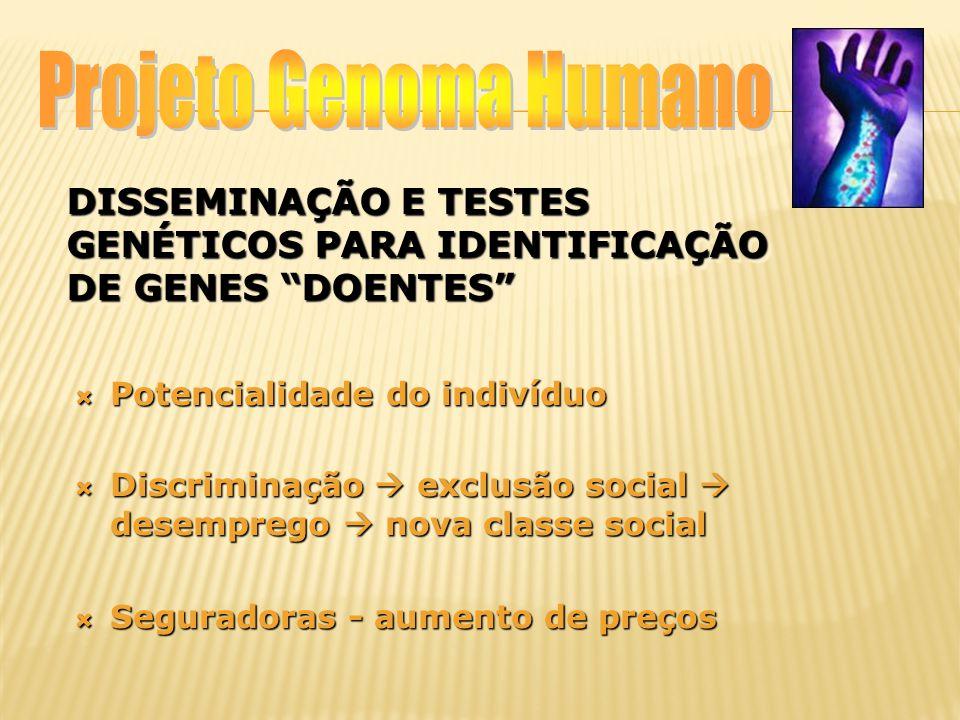 Disseminação e testes genéticos para identificação de genes doentes