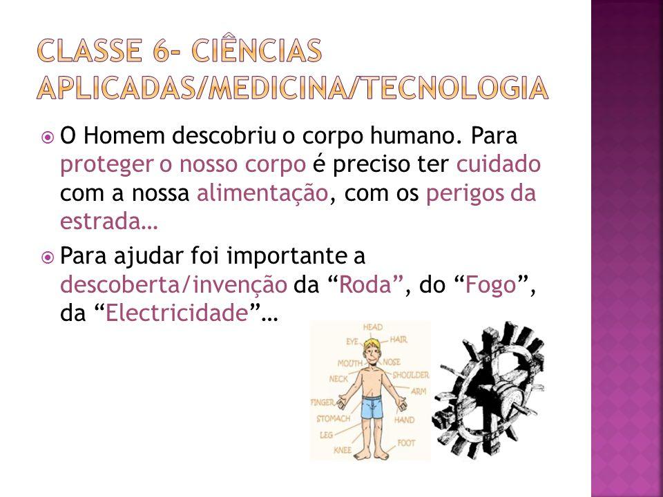 Classe 6- ciências aplicadas/medicina/tecnologia