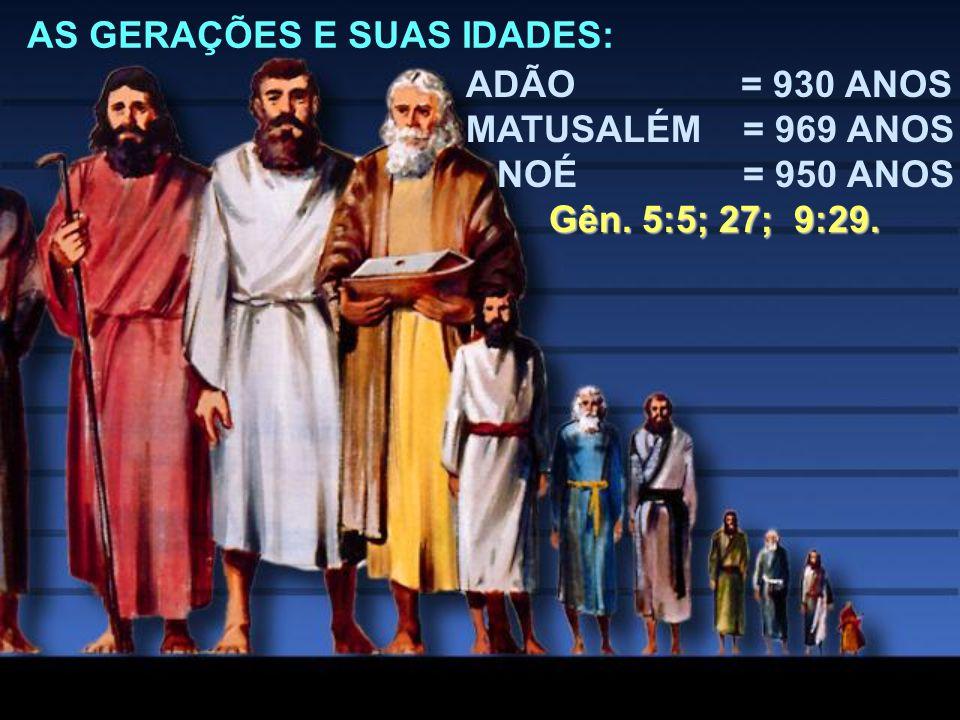 AS GERAÇÕES E SUAS IDADES: