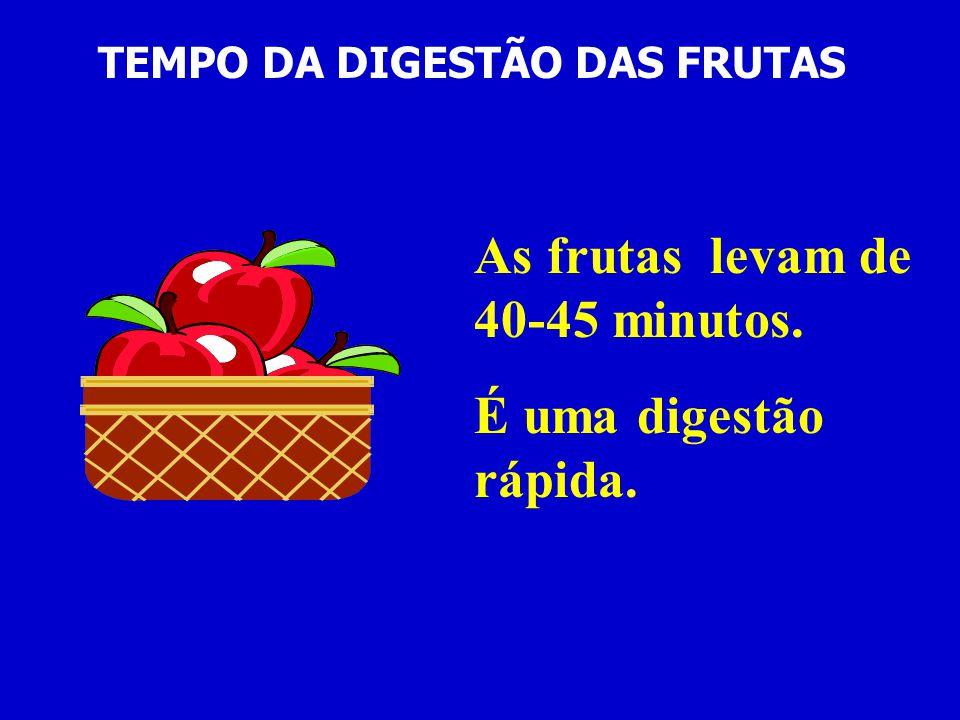 TEMPO DA DIGESTÃO DAS FRUTAS