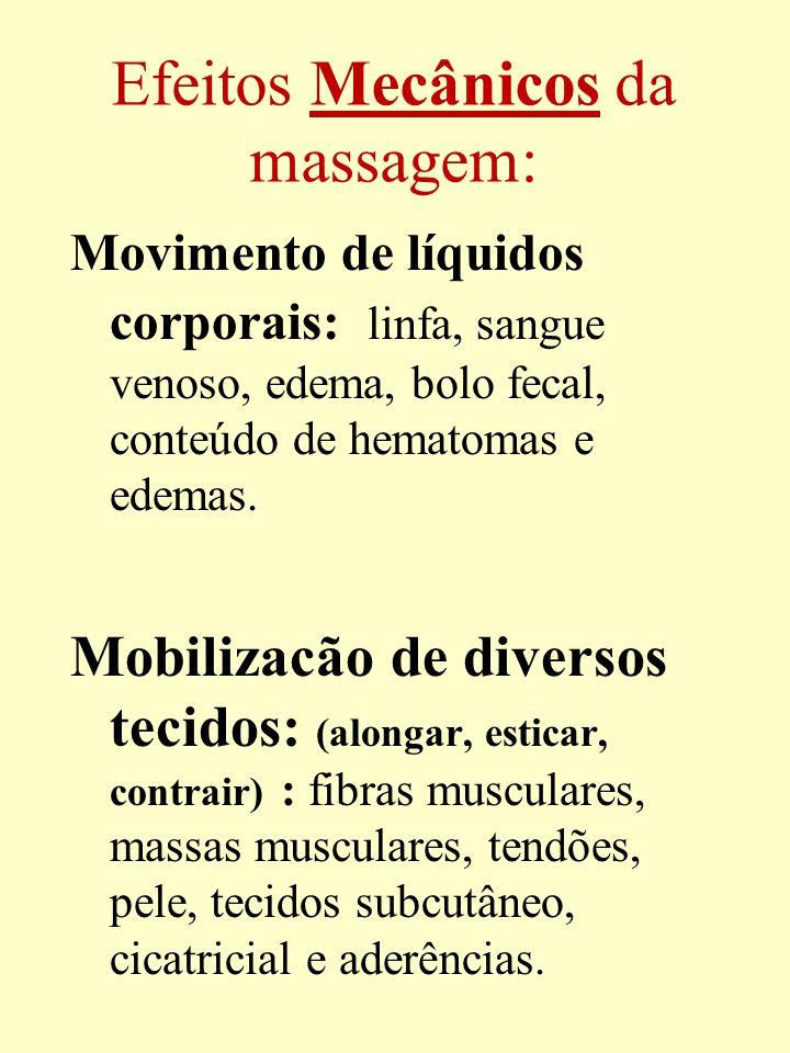 Efeitos Mecânicos da massagem: