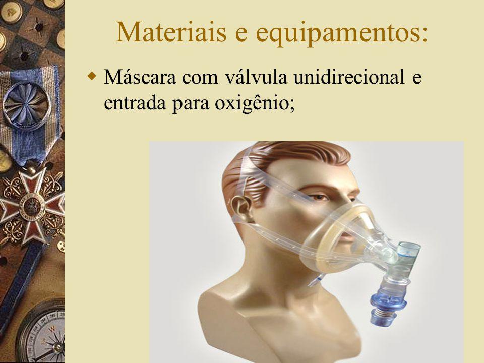 Materiais e equipamentos:
