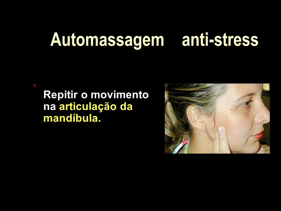 Automassagem anti-stress