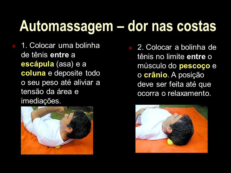 Automassagem – dor nas costas
