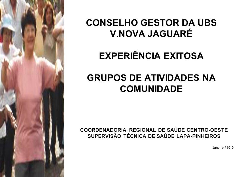 CONSELHO GESTOR DA UBS V