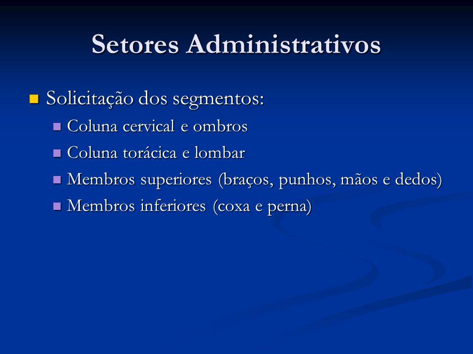 Setores Administrativos