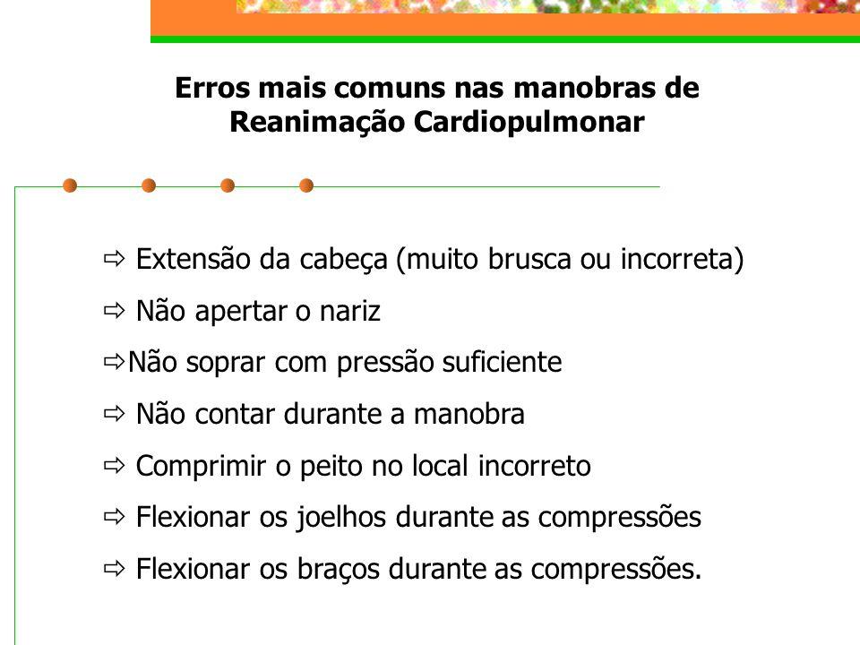 Erros mais comuns nas manobras de Reanimação Cardiopulmonar