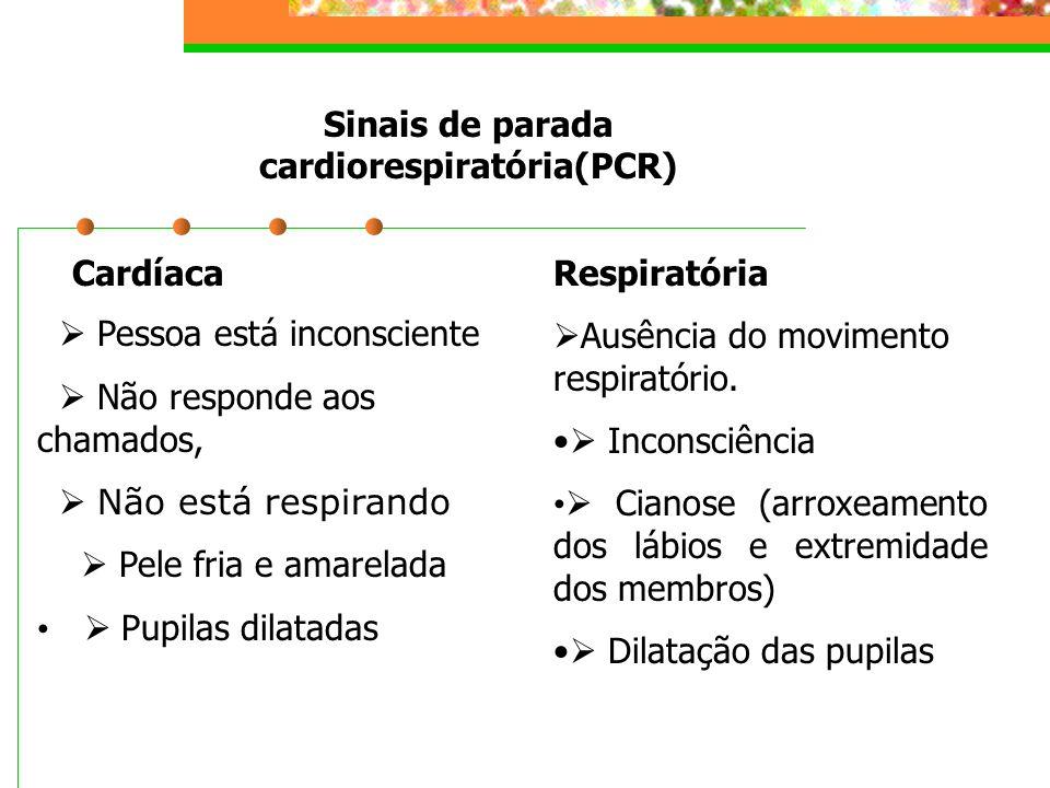 Sinais de parada cardiorespiratória(PCR)